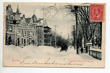 CANADA carte postale ancienne MONTREAL Dorchester street in winter