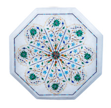 """12"""" Marble Center Coffee Table Inlay Mosaic Marquetry Handmade Home Decor"""