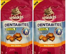 WHISKAS Dentabites Oral Care x2 50g Packs Help Clean Teeth Cat Treat For