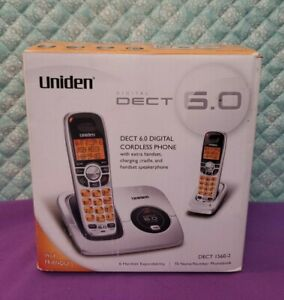 Uniden Dect 1560-2 Dual Handsets Single Line Phone New In Opened Box