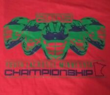 2009 YOUTH LACROSSE MINNESOTA CHAMPIONSHIP STAFF T-SHIRT MN SWARM NATIVE SPORT