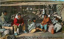 c1910 Alaska Postcard; Eskimo Family Using Skin Boat for a House, Unposted