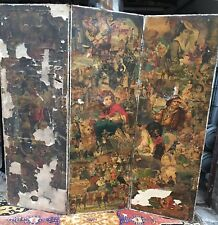 Glanzbilder Oblaten Paravent Lackbilder Collage beidseitig ca.173,5 x 178,5 cm