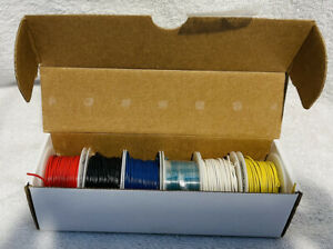Circuit-Test 22AWG Solid Hook Up Wire Kit - 6 x 25 Foot Rolls - Assorted Colors