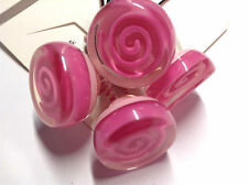 Gymboree Sweet Cupcake Line Ponytail Holder NWT Pink Acrylic Swirl Rose Cute