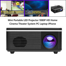 1X Mini Portable LED Projector HD Home Cinema Theater System PC Laptop iPhone