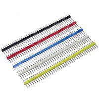 5x Stiftleiste Set farbig  | 40 Pins | 2,54mm | Steckerleiste Pin Header Arduino