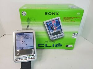 Sony Clie PEG-SJ30U Bundle with Charger Install Disc and Manual Tested Working