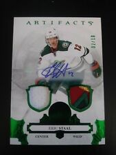 Eric Staal 2017-18 Artifacts Emerald Dual Patch Relic Auto #2/10 Wild