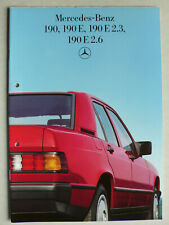 Prospekt Mercedes 190, 190 E, 190 E 2.3, 190 E 2.6, 12.1985, 30 Seiten