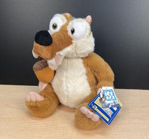 """Scrat (Ice Age) Build A Bear Workshop 12"""" Plush Squirrel + Acorn Nut NWT"""