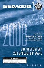 Sea-Doo Speedster 200 & Speedster Wake, 2008 Owners Manual Paperback