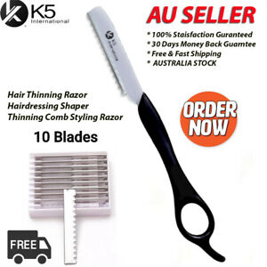 Hair thinning Razor Hairdressing Shaper Thinning Comb Styling Razor / 10 Blades