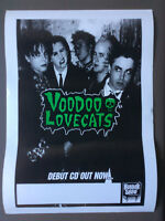 VOODOO LOVECATS GIG POSTER  Aussie Punk Rock Glam Rock RARE