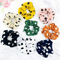 Big Polka Dot Scrunchies Women Hair Tie Girl Ponytail Holders Hair Accessories