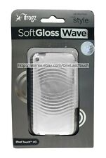 iFROGZ Case for IPOD TOUCH 4G Clear/Off White SOFT GLOSS WAVE Hard Plastic NEW