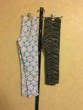 Lot of TWO Girls 6X Full Length Leggings Disney And Faded Glory