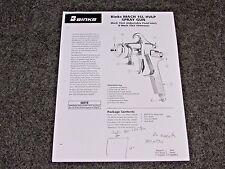 BINKS MACH 1SL HVLP AIR SPRAY GUN PARTS / USER MANUAL