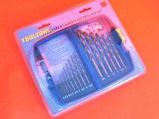 15pc Metric cobalt metal drills 1.5mm - 10mm + storage case 5%25 cobalt drill
