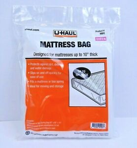 "Uhaul Moving Mattress Bag (Queen) 92"" x 60"" x 10"" Dust Waterproof Cover - Sealed"