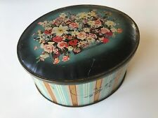 Sharp & sons vintage advertising tin - flowers in the style of a cake or hat box