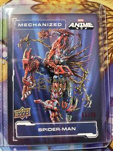 Marvel Anime Mechanized Autograph Jonathan Koelsch 55/60 Spider-Man Auto SSP