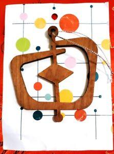 """Vintage 3"""" Wood Cutout Hanger Ornament"""
