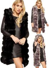 Faux Fur Vest Outdoor Coats & Jackets for Women