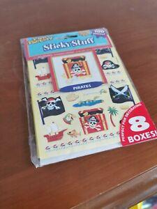 Stickers Bumper Sticker 100 Stickers Children Pirate Birthday Decorations on Box