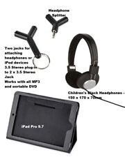 Kids Car Travel Kit iPad Pro 9.7 Case Holder + Headphones for MP3 DVD players