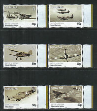 Gibraltar 2010 Battle of Britain 70th Anniv--Attractive Topical (1222-27) MNH