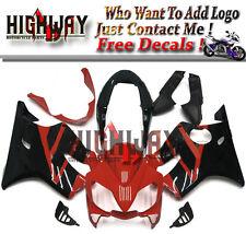 Injection ABS Fairing Kit For Honda CBR600 F4i 04-07 5 Black Red Stripes Cover
