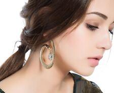 New Crystal Drop Snake Hoop Earrings Women Gold Plated