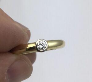 Stunning Heavy 18k Yellow Gold And Diamond Band Ring 0.23 Carats Size O