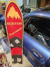 Burton Performer Snowboard Vintage Rare Red Hand Made Wood Board