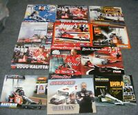 LOT of 12 NHRA Race Car Drag 8x10 Picture Poster PHOTO CARD Dragster 2001 2002
