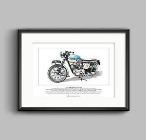 Triumph Bonneville T120 Pre-Unit Limited Edition Fine Art Print A3 size