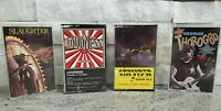 Lot of 4 80's & 90's  Rock Band Cassette Tapes Slaughter Stryper Thorogood