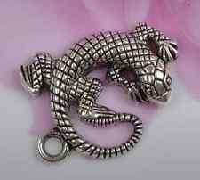 Wholesale 5pcs Tibetan Silver Lizard Animal Charms Pendants 30X27MM C368