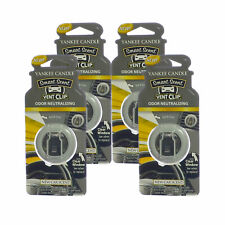 Yankee Candle Car Freshener Smart-Scent Vent Clips, 4-PACK (New Car)