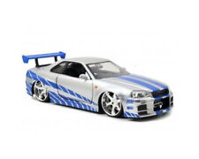 JADA 97158 - 1/24 2002 NISSAN SKYLINE GTR R34 SILVER FAST AND FURIOUS 7
