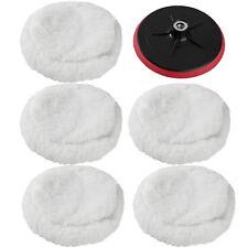 5 peaux de polissage + disque de polissage pour machine à polir