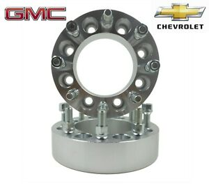"""8x6.5"""" To 8x6.5"""" Wheel Adapters Spacers 8 Lug GMC & Chevrolet 2 inch Made In USA"""