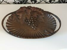 More details for heavy bronze / brass bowl display piece circa 1900 beautiful patina.