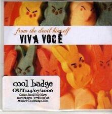 (CB979) Viva Voce, From The Devil Himself - 2006 DJ CD