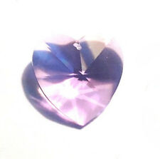 Retired-40mm Swarovski Light Violet Heart Crystal Prisms W/Logo 8781-40 Cci