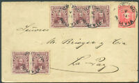 BOLIVIA Postal Stationery 1914 + Stamps VF