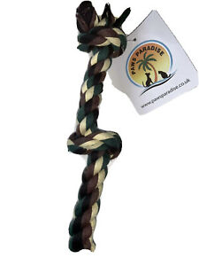 """14"""" Ragger Rope Triple Knot Colourful Strong Durable Dog Puppy Large Rope Toy"""