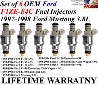 6 1997-1998 MUSTANG 3.8L V6 OEM Fuel Injector Set