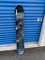 Vintage Old School Black Color MORROW  Burton Bindings Flat Tail Snowboard